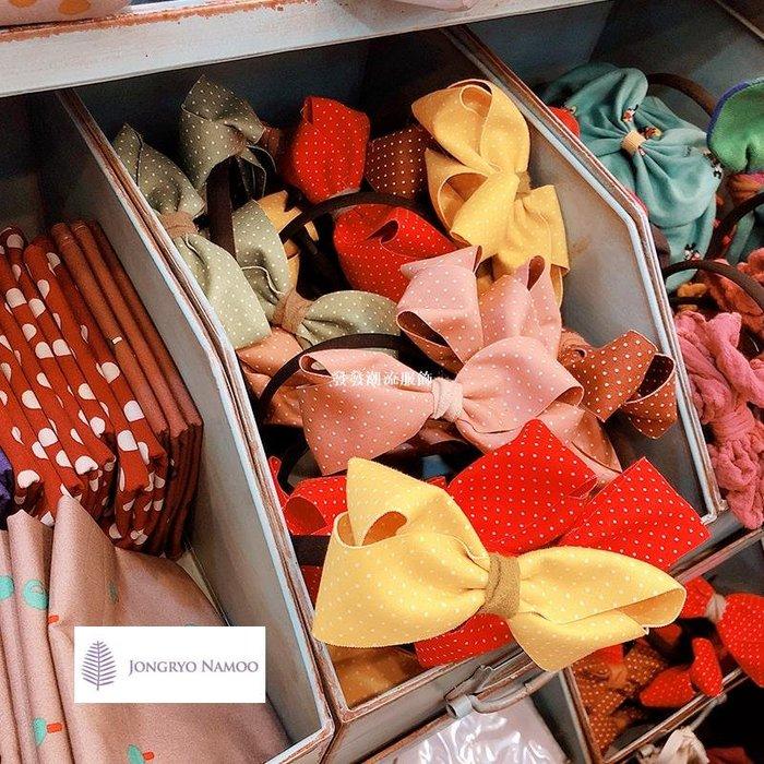 發發潮流服飾韓國兒童髮飾palmtree可愛蝴蝶結髮箍女孩甜美公主壓髮頭箍髮卡