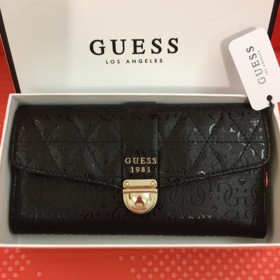 😍Guess😍Women's Tabbi Clutch Wallet 黑色暗花長銀包