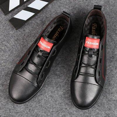 【時尚先生男裝】大碼男鞋2020春夏潮鞋牛皮休閑鞋韓版真皮英倫板鞋男鞋皮鞋小黑鞋 2005240718