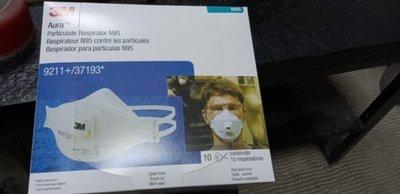 現貨 3M口罩 9211魚形帶呼吸閥口罩N95口罩 10入