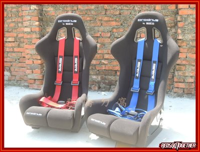 【阿喬ㄉ窩】全新 SRR 四點式安全帶  藍/紅/黑  (賽車椅專用)---(2017年全新版本) LANCER K10
