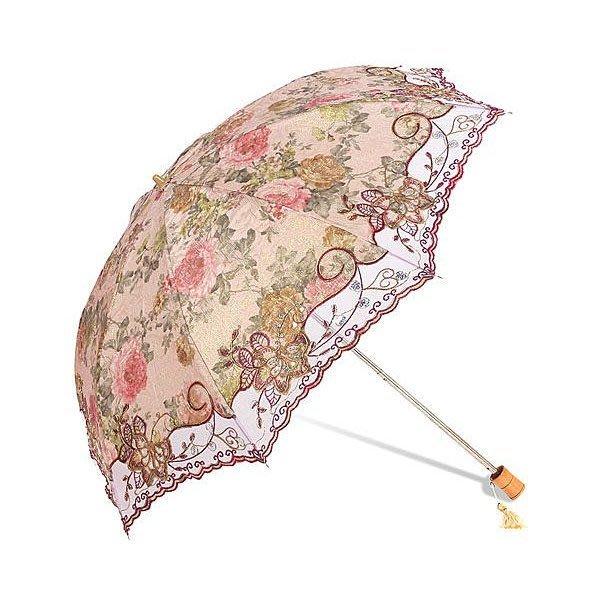 5Cgo 【鴿樓】會員優惠 蕾絲刺繡公主二折遮陽傘 超強防紫外線0 太陽傘 防曬傘 雨傘 韓 UV