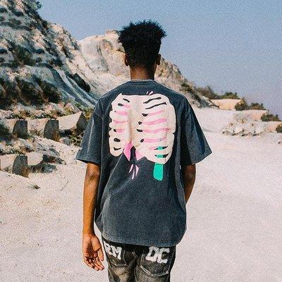 「愛尚小鋪」 REMEDY 21SS夏季創意國潮做舊發泡漿補救心臟寬松短袖T恤衫男女潮牌DE52