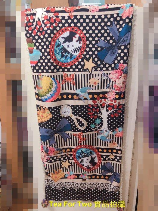 出清特賣 - B630 二手 - 好看兩面不同花樣的超美圍巾