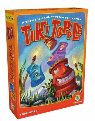 骰子人桌遊-(送厚套)推倒提基Tiki Topple(繁.英版)策略思考.空間關係.決策判斷