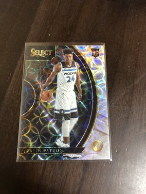 JUSTIN PATTON  2017-18 SELECT  新人RC 光芒閃亮金屬卡