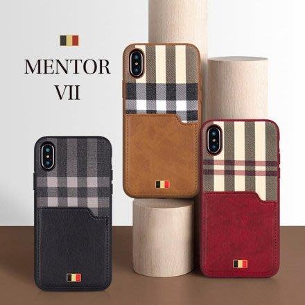 『四號出口』Latus 拉圖斯系列【 iPhone XR 】質感 皮革 格紋 插卡槽設計 手機殼 背蓋