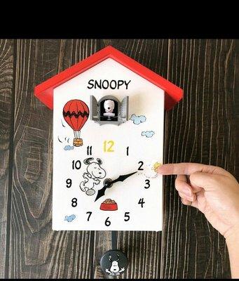 7-11 SNOOPY 狗屋造型報時咕咕鐘 N 史努比70周年快樂 積因 時鐘 掛鐘現貨