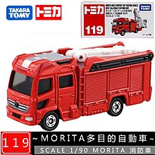 【車城】TOMICA 火柴盒多美小汽車 No.119 MORITA多目的自動車 消防車 TM119A2 879763