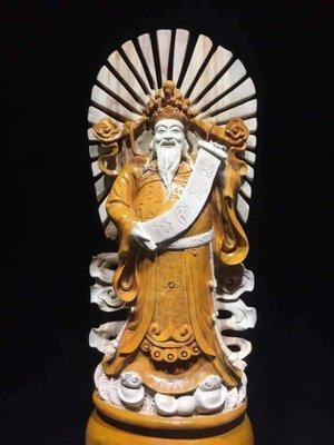 ㊣姥姥的寶藏㊣千年老香樟木 祖傳木雕工藝繼承人沈大師最新力作《天官賜福》