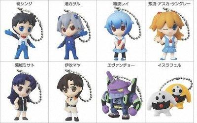 新奇玩具☆日版 福音戰士 DE補完計畫2  迷你人形吊飾...全8款