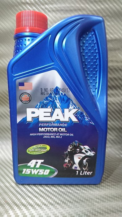 (C+西加小站)  PEAK 美國進口 15W50/15W-50 半合成4T機油(購買12罐免運費)Eni