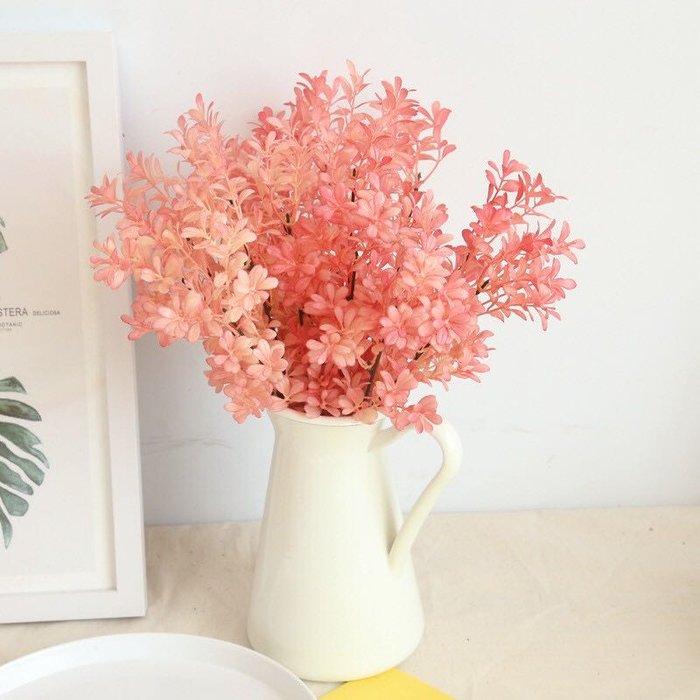 瓜子草 仿真花 一束 仿真葉 橘色 仿真草 仿真植物 捧花 植物牆 裝飾 佈置 婚禮 花木馬 人造花 香檳色 雜貨