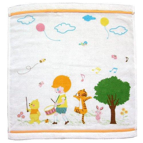 ~FUJIJO~現貨~日本迪士尼DISNEY限賣【Winnie維尼】日本製 質感超優 紗布保濕抗菌小條毛巾