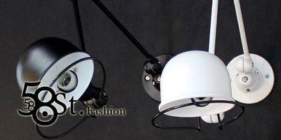 【58街】米蘭展 新款式「French Horn 法國號雙節桿壁燈,大、小款 」低調時尚設計。GK-315