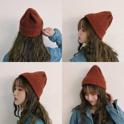 秋冬保暖韓版百搭針織帽可愛ins潮人毛線帽學生情侶帽子女