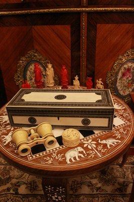 【家與收藏】極品稀有珍藏歐洲百年古董博物館級18世紀文藝復興時期手工Inlay檀木鑲嵌精緻微雕大寶盒