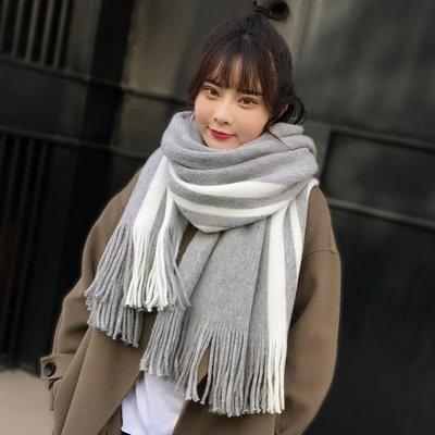 YEAHSHOP 圍巾女韓版百搭加厚日系毛線少女男學生軟妹情侶簡約圍脖Y185