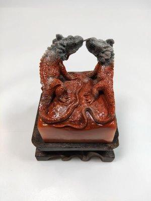 老撾石蜥蜴 花鳥精品印章 金石篆刻 手工雕刻印章壽山石金田黃