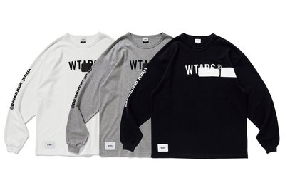 WTAPS_39 AW19 SIDE EFFECT. DESIGN LS 01 / TEE. COTTON 三色