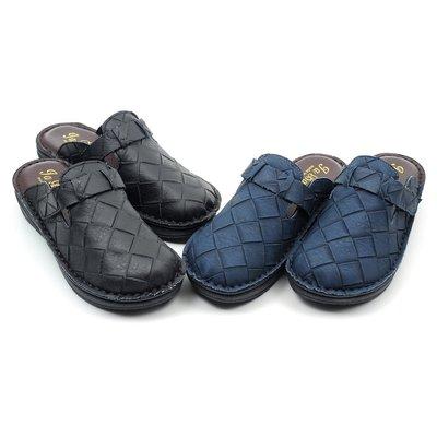 含運│鞋念 美人館│MIT寬交叉紋柔軟舒適後空拖鞋-黑色36-39號【8811-03】