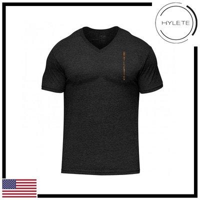 ►瘋狂金剛◄黑色 HYLETE stacked tri-blend v-neck tee 柔軟 透氣 短袖T恤