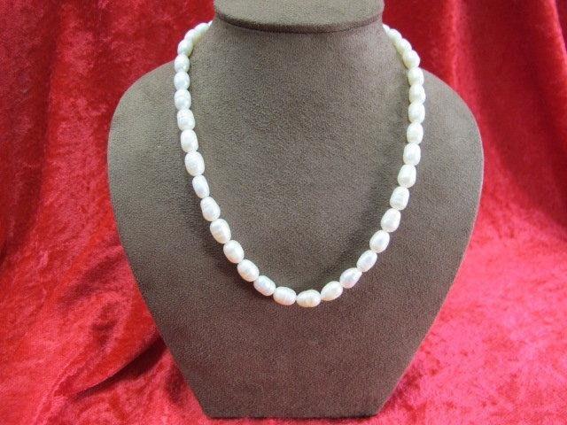 二手舖~ NO.20 天然珍珠項鍊 母親節 手鍊戒指墜子首飾手環耳環 (珍珠大小約6-10mm)
