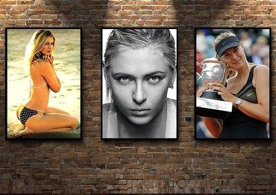 現代裝飾畫網球明星瑪利亞·莎拉波娃Maria Sharapova(多款可選)