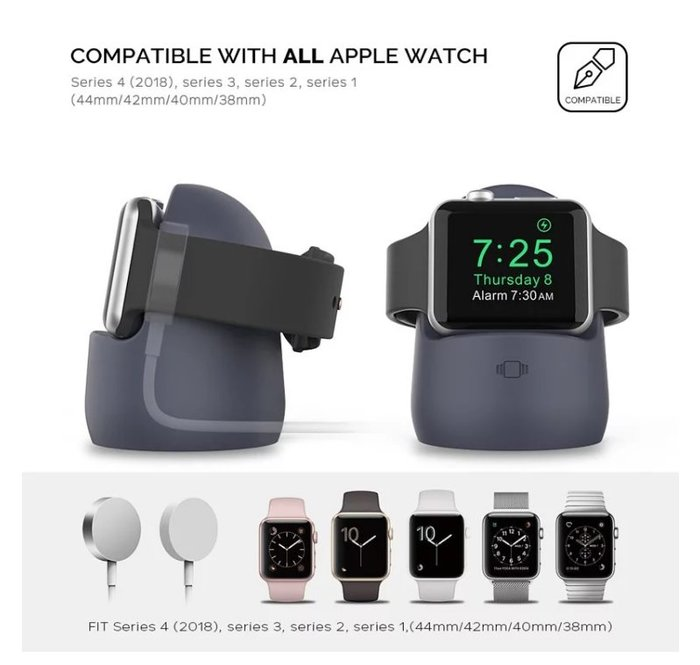 Aha Style Apple Watch 矽膠充電底座