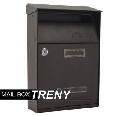【TRENY直營】美式經典信箱 信箱 鑄鐵信箱 信件箱 意見箱 簡約 郵差箱 信件 7558