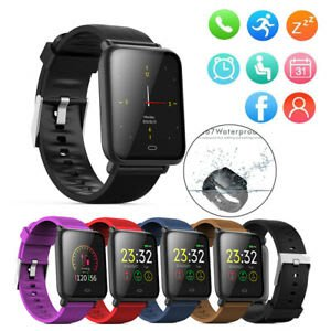 Q9 Smartwatch帶有心率監測器血壓時鐘智能手錶支持Facebook WhatsApp