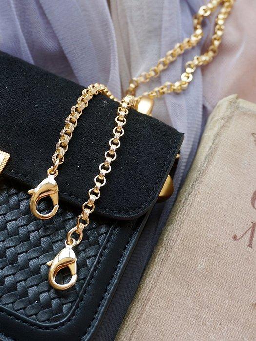 淘淘樂-【一人故事】小香風純銅包包鏈條配件包帶斜挎細肩帶金屬鏈