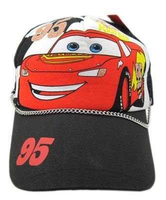 【卡漫迷】 CARS 帽子 鍊子 ~ 閃亮 造型帽 汽車總動員 閃電麥坤 賽車 透氣網帽 兒童 遮陽帽 網球帽 棒球帽