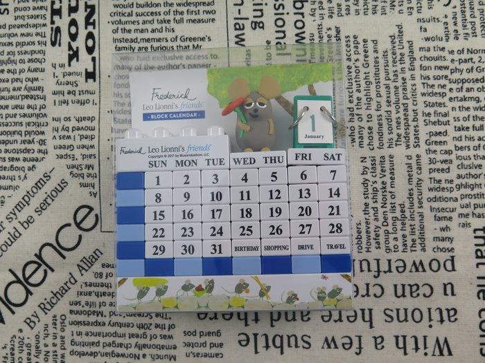 【iSport代購】台灣現貨 日本代購 療癒小物 田鼠阿佛 立體桌曆 DIY月曆 萬年曆 積木組合492533 交換禮物