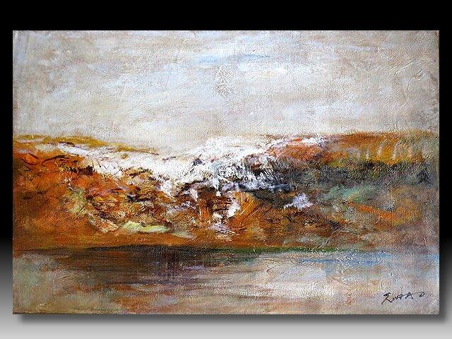 【 金王記拍寶網 】U1154  趙無極 款 抽象 手繪原作 油畫一張 罕見 稀少 藝術無價~