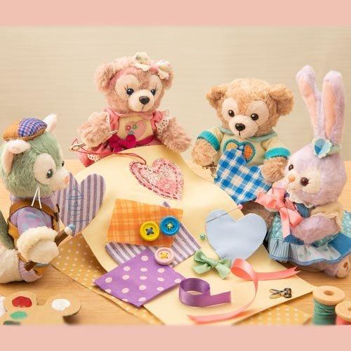 Ariel's Wish日本東京迪士尼2019情人節35週年達菲熊Duffy雪莉玫史黛拉兔兔畫家貓站姿珠鍊吊飾-絕版現貨
