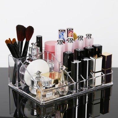 《水韻坊》1107-2透明收納盒 置物架 化妝盒 彩妝盒 壓克力收納盒