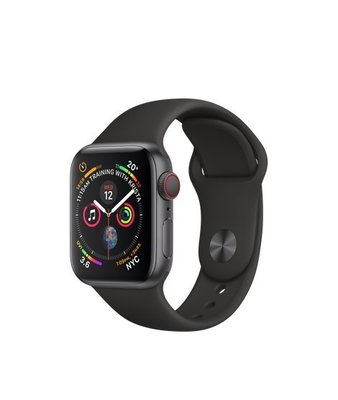 Apple Watch Series 4 GPS, 40mm Space Grey - Black Sport Band   MU662ZP/A