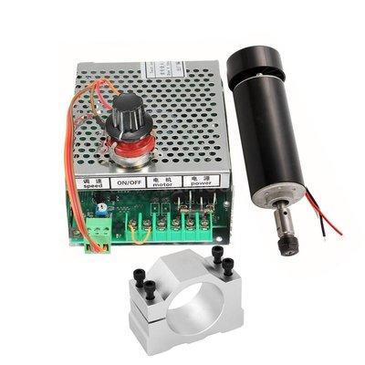 500W直徑52mm高速風冷主軸電機PCB雕刻機主軸ER11配專用電源   星期八雜貨鋪JIDFB