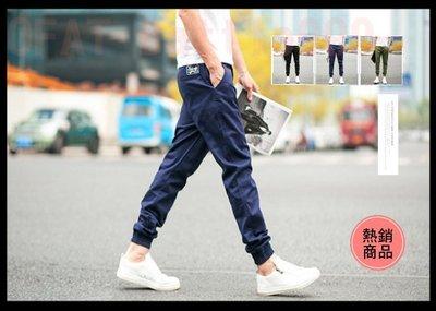 絕佳版型日系修身束口褲 口袋黑標 縮口...