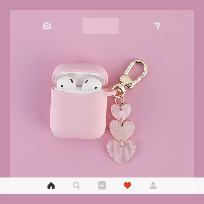 韓國ins 蘋果 airpods2 保護套 可愛airpods無線耳機盒子殼 矽膠防丟盒子殼 防摔抗震 保護套