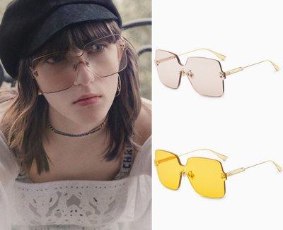 《Patty》代購 2018 秀上新款  DIOR COLORQUAKE1 無邊框透明色片 墨鏡 太陽眼鏡 2色