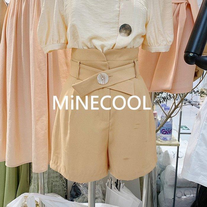 MiNE SHOP韓版純色休閒短褲M9513-1 三色  SM