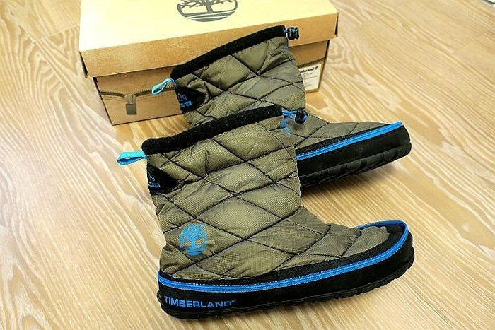 *Beauty*Timberland灰色滾藍邊尼龍短靴 拉鍊好攜帶型 原價4900元