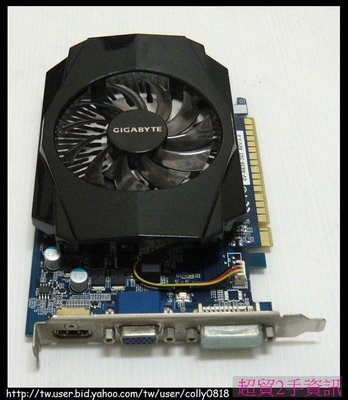 超貿2手資訊 技嘉 GV-N630-2GI/PCI-E/HDMI/2GB-保固1個月