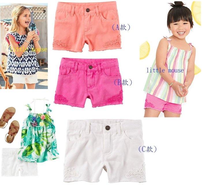 小米媽美國小鋪 carter's 春夏可愛百搭蕾絲點綴短褲,淡粉/桃紅/白色 3T,4T,5T,6號