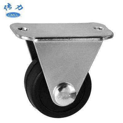 熱銷款-外貿1寸橡膠定向腳輪 直徑25mm靜音耐磨固定滾輪一寸家具輪子