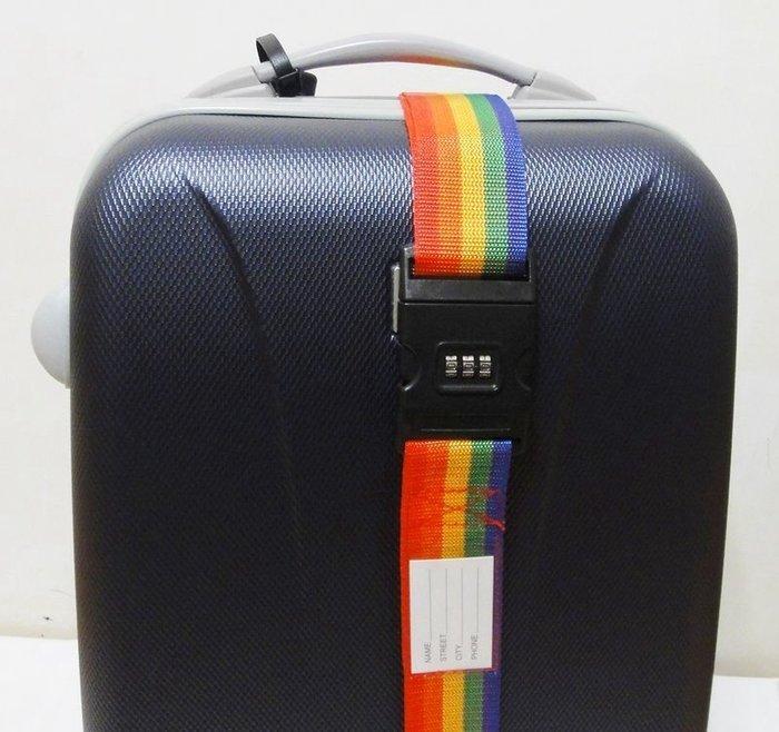 全新 CH-18C密碼鎖扣行李束帶,彩虹色行李帶.打包帶.密碼鎖捆箱帶