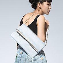 Carefree 防水信封包 灰 側背包 肩背包 手拿包 手提包 鏈帶包 晚宴包