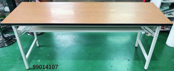 【弘旺二手家具生活館】全新/庫存 木紋會議折合桌 OA桌 摺疊桌 電腦桌 半實木書桌-各式新舊/二手家具 生活家電買賣
